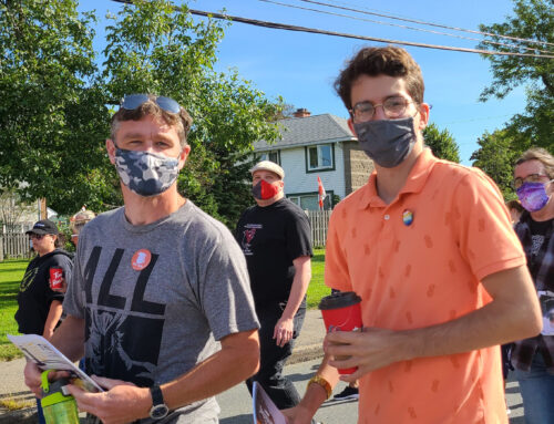 NB NDP Attends CUPE NB Walk to Support Frontline Workers